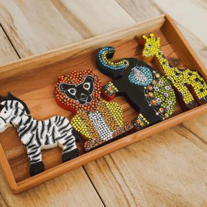 """Safari Wooden """"Dots"""" Puzzles"""