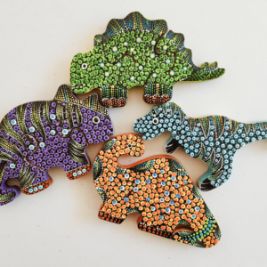 """Dino Wooden """"Dots"""" Puzzles"""