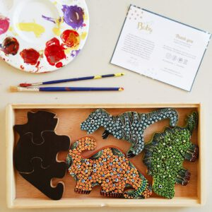 Paint-It-Yourself Dino Dot Art Puzzles